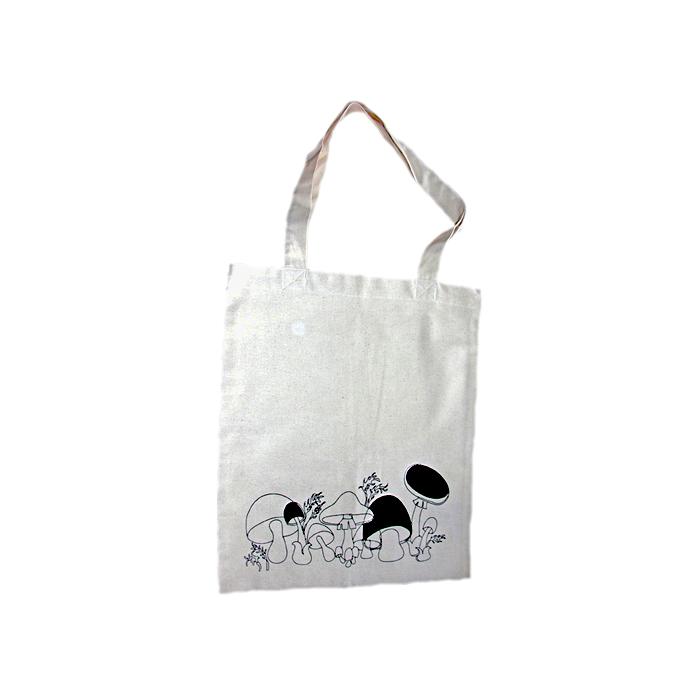 Tygkasse tygväska med svampmotiv svamp.se