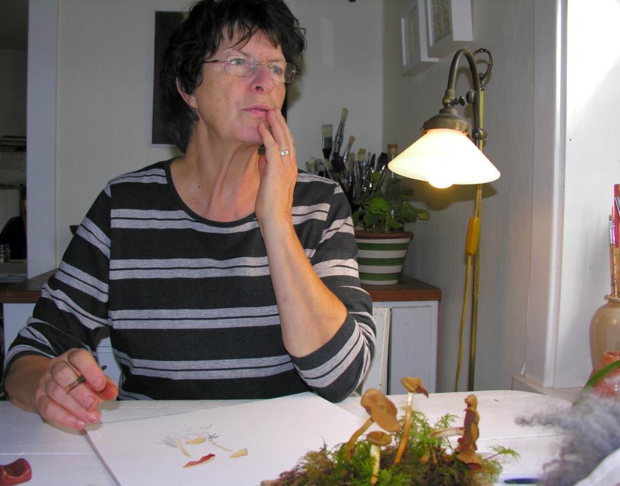Liza Johansson inspireras av svamparna