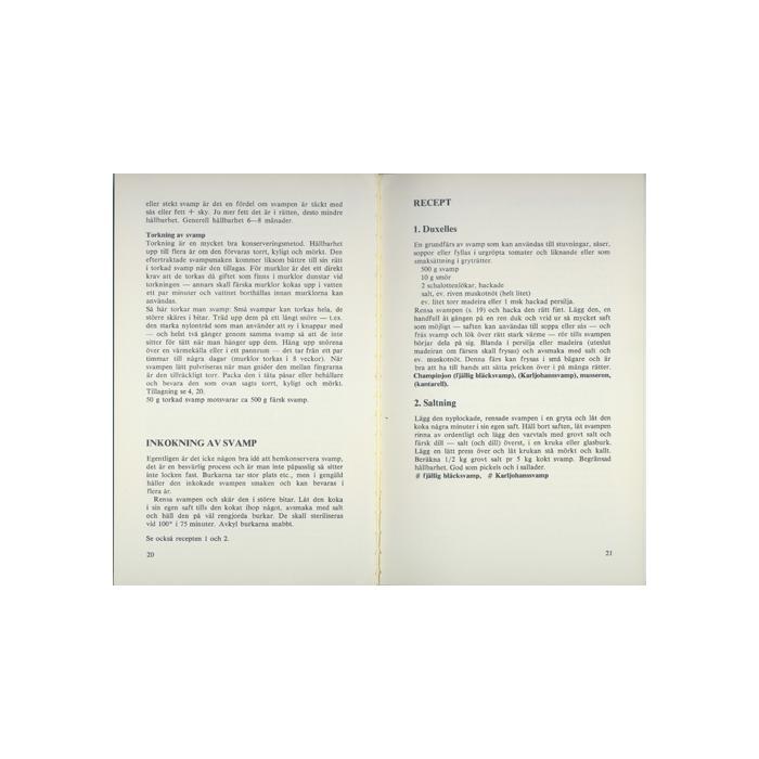 Svampkokboken. Svamp på 117 sätt, inlaga