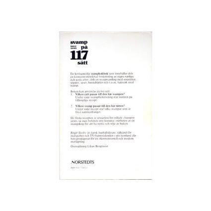 Svampkokboken. Svamp på 117 sätt, baksida omslag