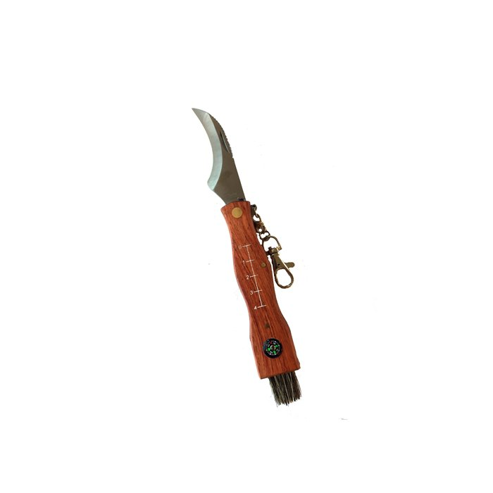 Svampkniv med kompass och pincett