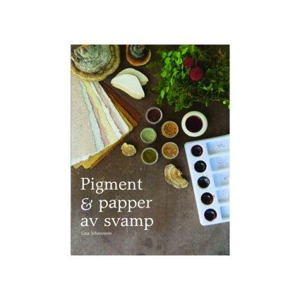 Pigment & papper av svamp, omslagets första sida
