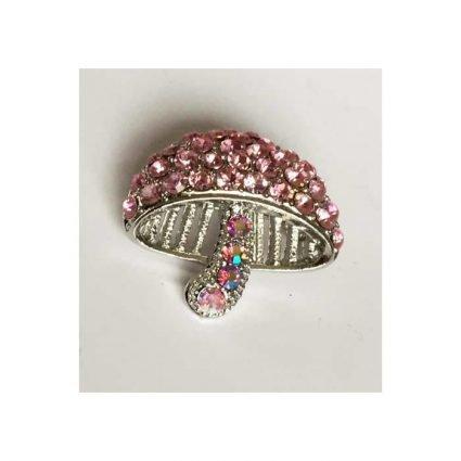 Brosch med rosa stenar
