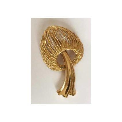 Brosch, guldfärgad, Monet