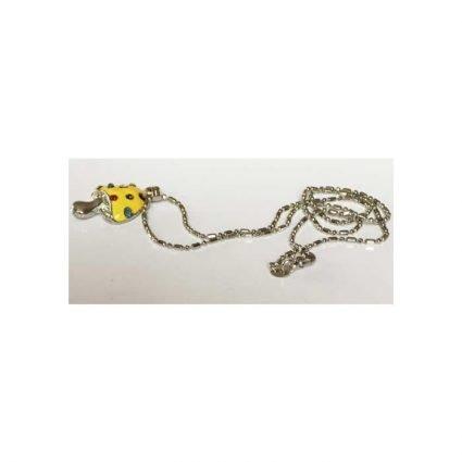 Halsband med gul svamp