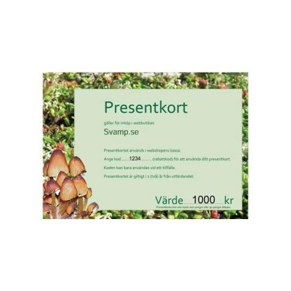 Presentkort 1 000 kr, per post eller digitalt