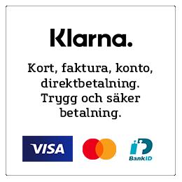 Betalsätt Klarna: Kort, faktura, konto, direktbetalning. Trygg och säker betalning.