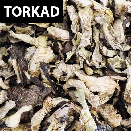 Streckmusseron torkad till matlagning. Plockad i Sverige. Livsmedelsgodkänd förpackning.